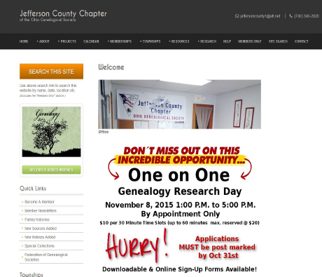 Jefferson County Chapter of the Ohio Genealogical Society